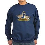 Tufted Buff Geese Sweatshirt (dark)