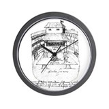 De Witt Drawing Wall Clock