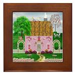 Valentine's Day Cottage Framed Tile
