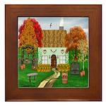 Autumn Cottage Framed Tile