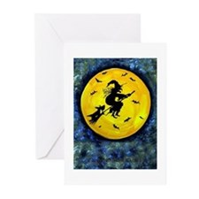 Scottie Moon Halloween Witch Greeting Cards (Pk of