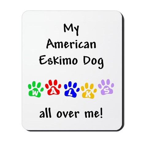 Eskimo Dog Walks Mousepad