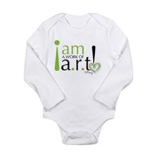 I am a work of a.r.t! Long Sleeve Infant Bodysuit