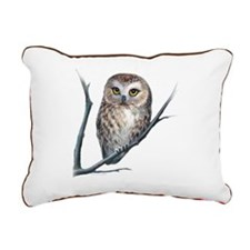 saw-whet owl light background Rectangular Canvas P