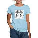 U.S. Route 66 Women's Pink T-Shirt