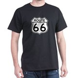 U.S. Route 66 Black T-Shirt