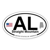 Straight Mountain Decal
