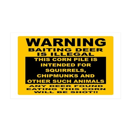 DEER HUNTING SIGN 35x21 Wall Decal