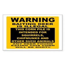 DEER HUNTING SIGN Bumper Stickers