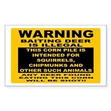 DEER HUNTING SIGN Decal
