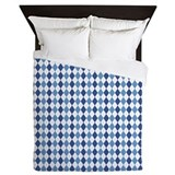 Blue Arglye Queen Duvet
