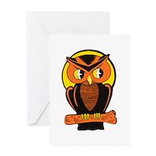 Retro Owl Greeting Card