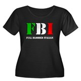 FBI Italian Shirt Women's Plus Size Scoop Neck Dar