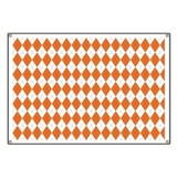 Argyle Sock Pattern Orange Banner