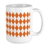 Argyle Sock Pattern Orange Coffee Mug