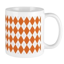 Argyle Sock Pattern Orange Mug