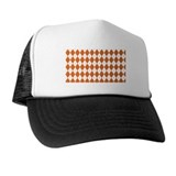 Argyle Orange Trucker Hat