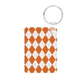 Argyle Socks Orange Keychains