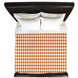 Argyle Socks Orange King Duvet