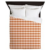 Argyle Socks Orange Queen Duvet
