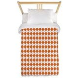 Argyle Socks Orange Twin Duvet