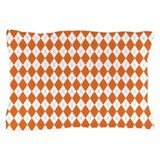 Argyle Socks Orange Pillow Case