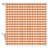 Argyle Socks Orange Shower Curtain