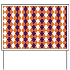 Orange and Purple Argyle Yard Sign