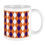 Orange and Purple Argyle Mug