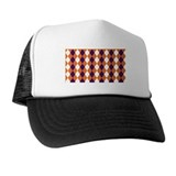 Orange and Purple Argyle Trucker Hat