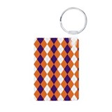 Orange and Purple Argyle Keychains