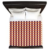 Orange and Purple Argyle King Duvet