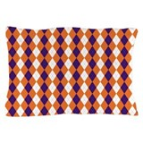Orange and Purple Argyle Pillow Case