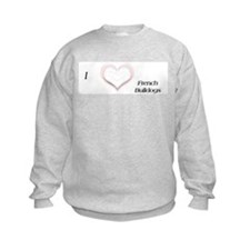 I heart French Bulldog Sweatshirt