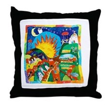 Guatemalan Sunrise Throw Pillow