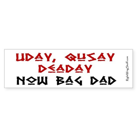 Deaday Bumper Sticker