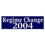 Regime Change 2004 Bumper Sticker