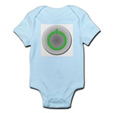 Power Button Infant Creeper