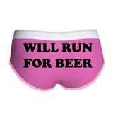 Will Run For Beer Women's Boy Brief