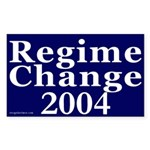 Regime Change 2004 Car Sticker