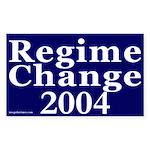 Regime Change 2004 Car Sticker