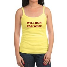 Will Run For Wine Jr.Spaghetti Strap