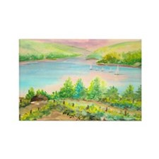 Keuka Lake Watercolor Rectangle Magnet