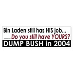 Bin Laden still has his job BumpaSticka