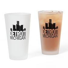 Detroit Skyline Drinking Glass