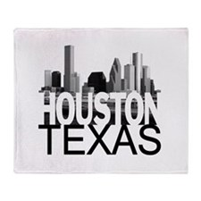 Houston Skyline Throw Blanket