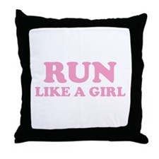 Run Like A Girl Throw Pillow