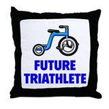 Future Triathlete Throw Pillow