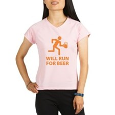 Will Run For Beer Performance Dry T-Shirt