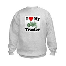 I Love My Tractor Kids Sweatshirt